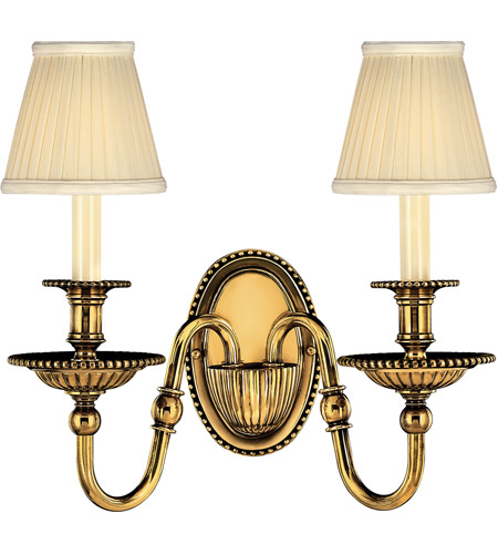 Hinkley Lighting Cambridge 2 Light Sconce in Burnished Brass 4412BB