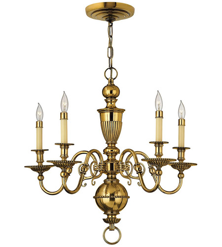 Hinkley Lighting Cambridge 5 Light Chandelier in Burnished Brass 4415BB