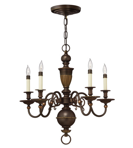 Hinkley 4415OB Cambridge 5 Light 25 inch Olde Bronze Chandelier Ceiling Light photo