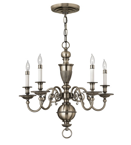 Hinkley Lighting Cambridge 5 Light Chandelier in Pewter 4415PW