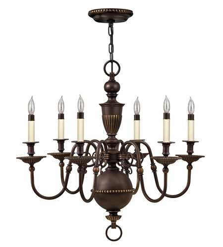 Hinkley Lighting Cambridge 6 Light Chandelier in Olde Bronze 4416OB