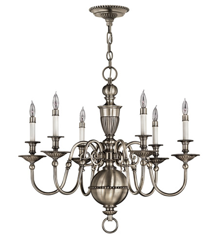 Hinkley Lighting Cambridge 6 Light Chandelier in Pewter 4416PW photo