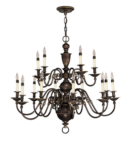Hinkley Lighting Cambridge 15 Light Chandelier in Olde Bronze 4417OB