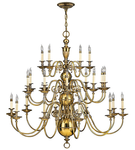 Cambridge 25 Light 49 Inch Burnished Br Foyer Chandelier Ceiling 3 Tier
