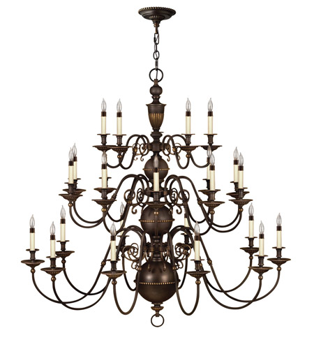 Hinkley Lighting Cambridge 25 Light Chandelier in Olde Bronze 4419OB photo