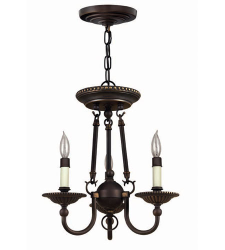 Hinkley Lighting Cambridge 3 Light Chandelier in Olde Bronze 4423OB photo