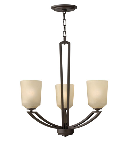 Hinkley 4433KZ Parker 3 Light 22 inch Buckeye Bronze Chandelier Ceiling Light photo