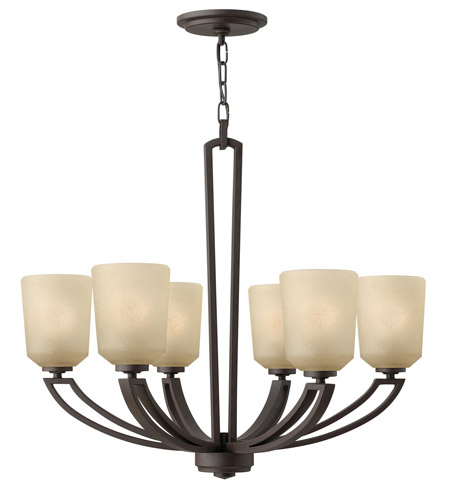 Hinkley 4436KZ Parker 6 Light 26 inch Buckeye Bronze Chandelier Ceiling Light photo