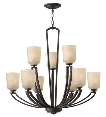 Hinkley 4438KZ Parker 9 Light 32 inch Buckeye Bronze Chandelier Ceiling Light, 2 Tier photo