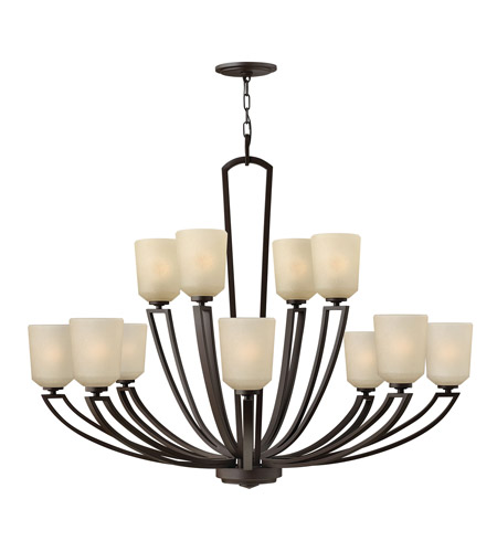 Hinkley 4439KZ Parker 12 Light 42 inch Buckeye Bronze Chandelier Ceiling Light, 2 Tier photo