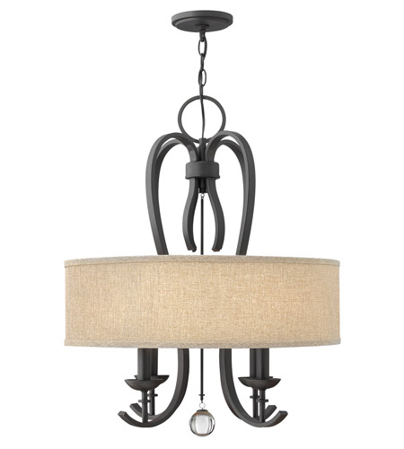 Hinkley 4474TB Marion 4 Light 22 inch Textured Black Chandelier Ceiling Light photo