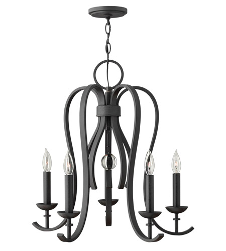 Hinkley 4475TB Marion 5 Light 25 inch Textured Black Chandelier Ceiling Light photo