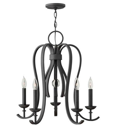 Hinkley Lighting Marion 5 Light Chandelier in Textured Black 4475TB