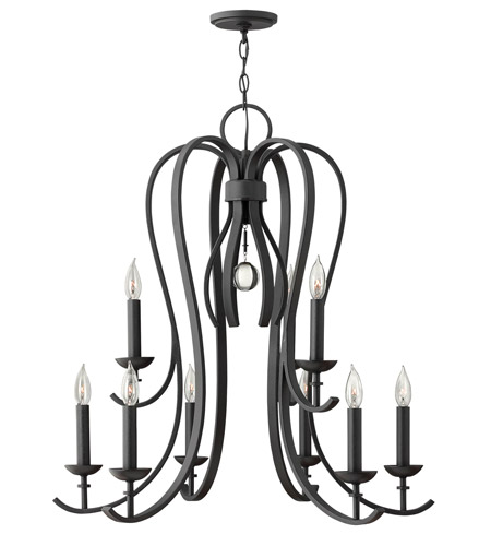 Hinkley 4478TB Marion 9 Light 30 inch Textured Black Chandelier Ceiling Light photo