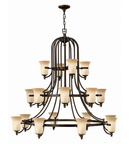 Hinkley Britannia 3 Tier 20Lt Chandelier in Antique Bronze 4489AT photo