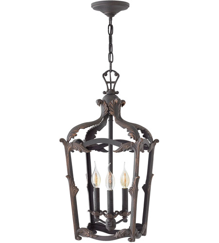 Hinkley 4522AI Sorrento 3 Light 12 inch Aged Iron Foyer Light Ceiling Light photo