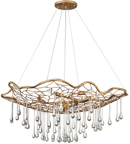 Hinkley Burnished Gold Steel Chandeliers
