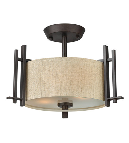 Hinkley Lighting Sloan 2 Light Semi Flush in Regency Bronze 4541RB