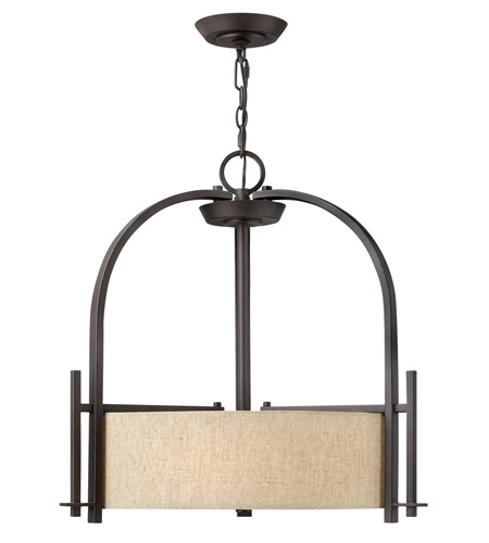 Hinkley 4542RB Sloan 3 Light 24 inch Regency Bronze Hanging Foyer Ceiling Light photo