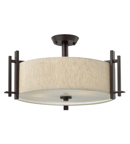 Hinkley 4543RB Sloan 3 Light 24 inch Regency Bronze Semi Flush Ceiling Light photo