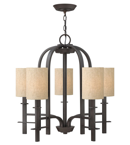Hinkley Lighting Sloan 5 Light Chandelier in Regency Bronze 4545RB photo