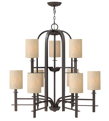 Hinkley 4548RB Sloan 9 Light 36 inch Regency Bronze Chandelier Ceiling Light photo