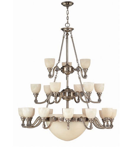 Hinkley Vanderbilt 3 Tier 21Lt Chandelier in French Pewter 4557FP photo