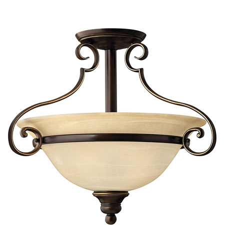 Hinkley Lighting Cello 2 Light Semi Flush in Antique Bronze 4561AT