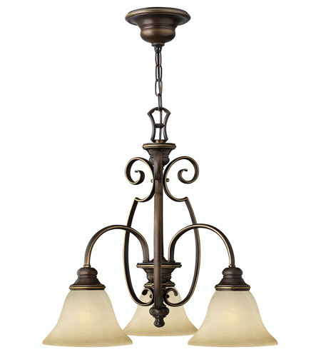 Hinkley 4563AT Cello 3 Light 23 inch Antique Bronze Chandelier Ceiling Light photo