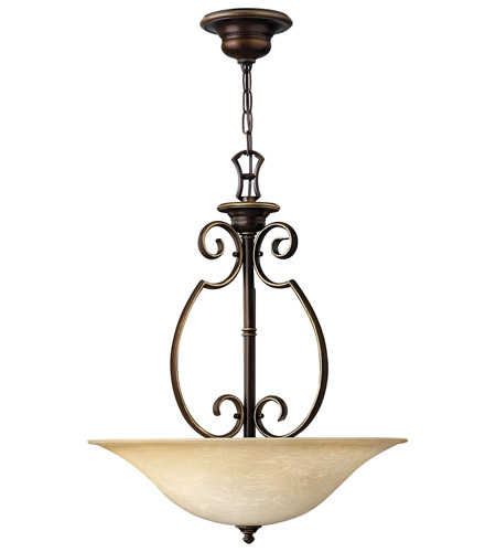 Hinkley 4564AT Cello 3 Light 20 inch Antique Bronze Hanging Foyer Ceiling Light photo