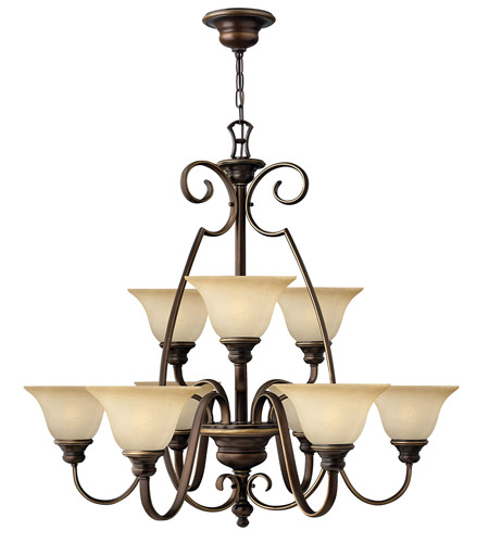 Hinkley 4568AT Cello 9 Light 36 inch Antique Bronze Chandelier Ceiling Light, 2 Tier photo