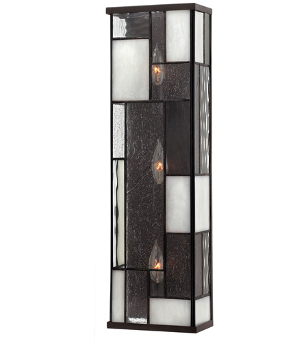 Hinkley 4572KZ Mondrian 3 Light 7 inch Buckeye Bronze ADA Sconce Wall Light photo
