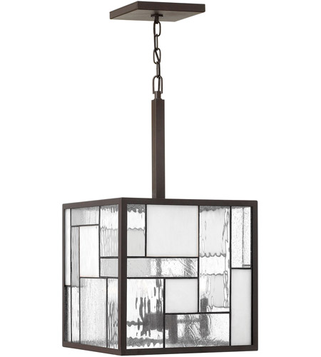 Hinkley Lighting Mondrian 4 Light Chandelier in Buckeye Bronze 4574KZ