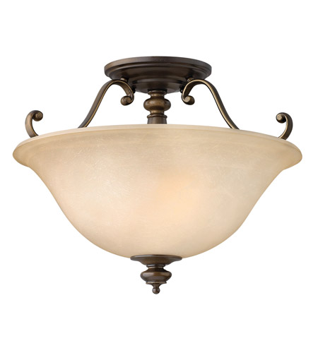 Hinkley 4591RY Dunhill 2 Light 16 inch Royal Bronze Semi Flush Ceiling Light photo