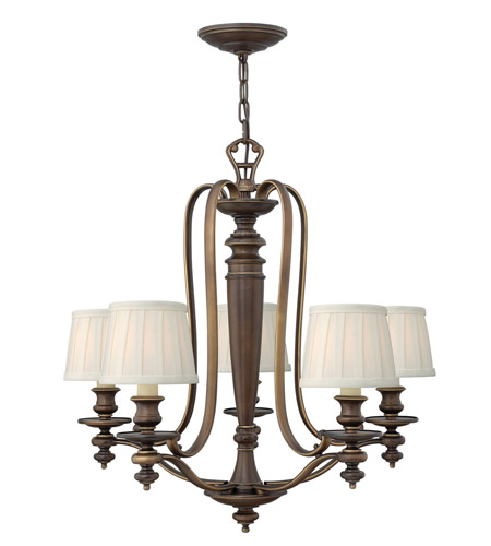 Hinkley Lighting Dunhill 5 Light Chandelier in Royal Bronze 4595RY