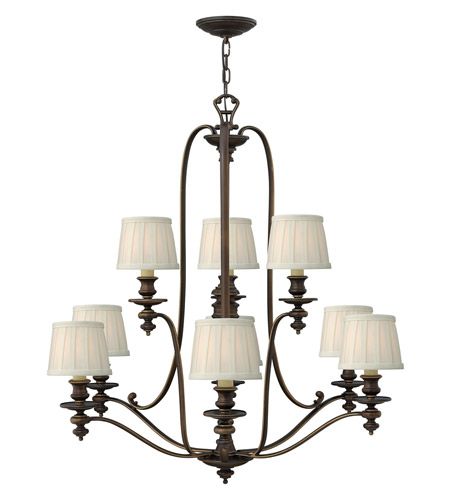 Hinkley 4598RY Dunhill 9 Light 37 inch Royal Bronze Chandelier Ceiling Light photo