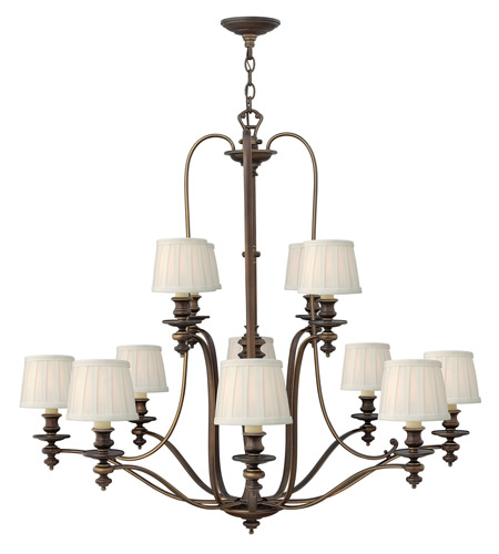 Hinkley 4599RY Dunhill 12 Light 45 inch Royal Bronze Chandelier Ceiling Light photo