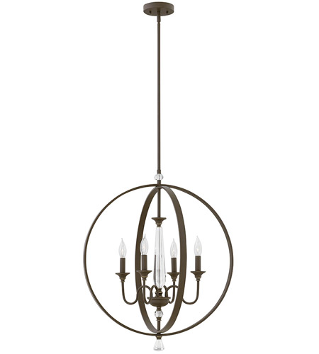 Hinkley 4604OZ Waverly 4 Light 24 inch Oil Rubbed Bronze Chandelier Ceiling Light photo