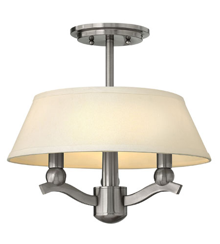 Hinkley 4611BN Whitney 3 Light 15 inch Brushed Nickel Foyer Pendant Ceiling Light photo