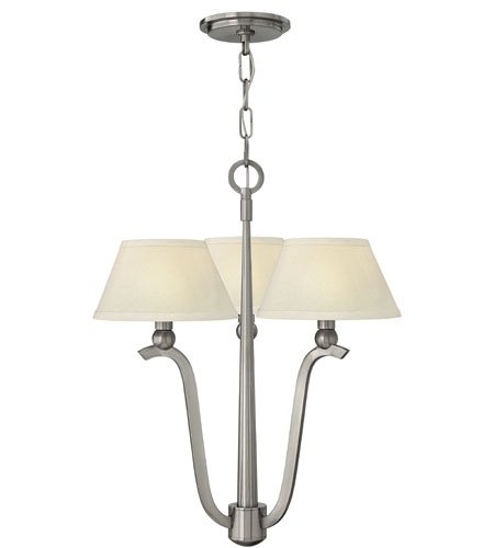 Hinkley Lighting Whitney 3 Light Chandelier in Brushed Nickel 4613BN