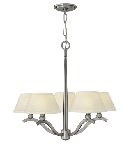 Hinkley Lighting Whitney 5 Light Chandelier in Brushed Nickel 4615BN