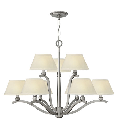 Hinkley Lighting Whitney 9 Light Chandelier in Brushed Nickel 4618BN