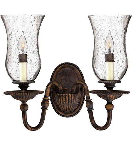 Hinkley 4622FB Rockford 2 Light 14 inch Forum Bronze Sconce Wall Light photo