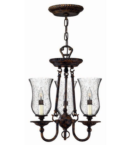 Hinkley Lighting Rockford 3 Light Chandelier in Forum Bronze 4623FB photo