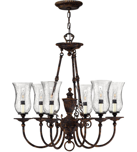 Hinkley 4626FB Rockford 6 Light 27 inch Forum Bronze Foyer Chandelier Ceiling Light photo