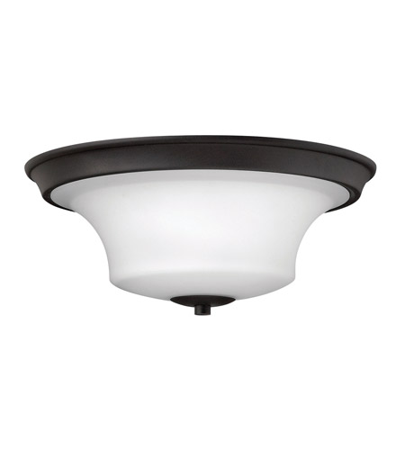 Hinkley 4631TB Brantley 3 Light 17 inch Textured Black Flush Mount Ceiling Light in Incandescent, Etched White photo