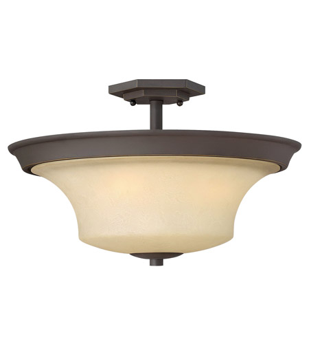 Hinkley Lighting Brantley 3 Light Semi Flush in Oil Rubbed Bronze 4632OZ