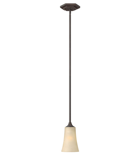 Hinkley 4637OZ Brantley 1 Light 5 inch Oil Rubbed Bronze Mini-Pendant Ceiling Light in Amber Etched photo