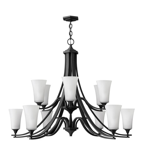 Hinkley Lighting Brantley 12 Light Chandelier in Textured Black 4639TB