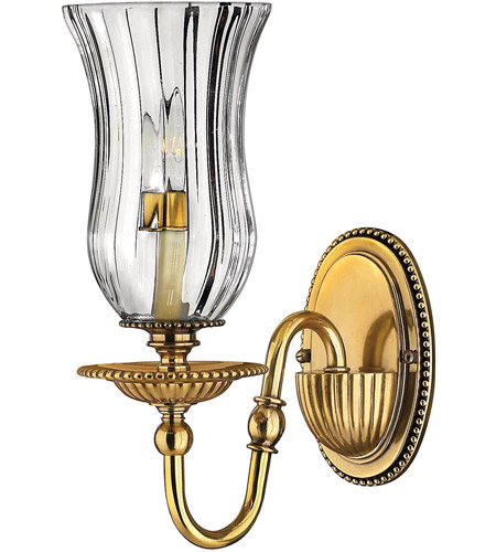Hinkley Lighting Cambridge 1 Light Sconce in Burnished Brass 4640BB